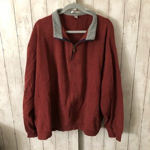 Red quarter zip pullover 3XT